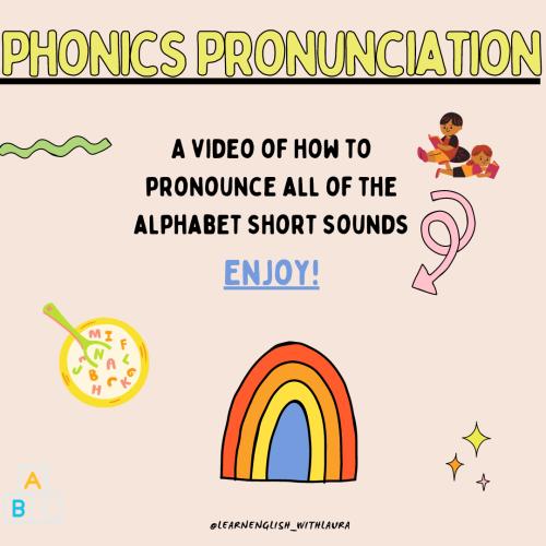 Phonics short sound pronunciation